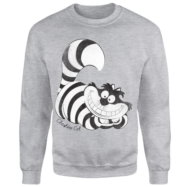 Disney Alice In Wonderland Cheshire Cat Mono Sweatshirt - Grey