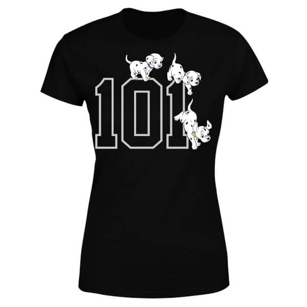 Disney 101 Dalmatians 101 Doggies Women's T-Shirt - Black