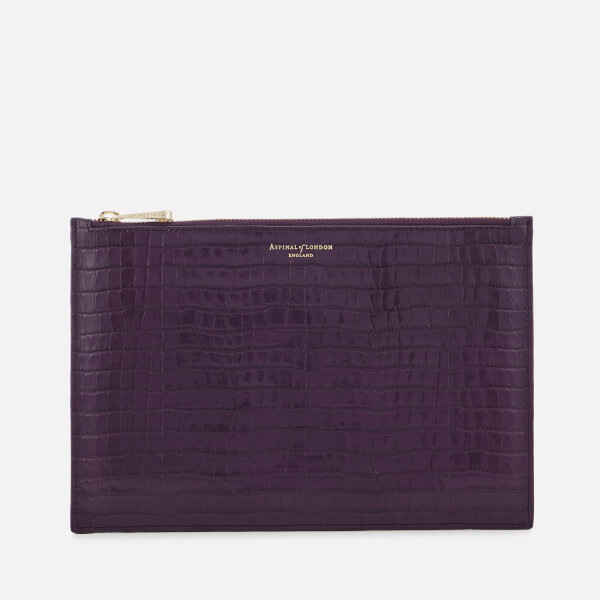 Aspinal of London Women's Essential Pouch Large - Amethyst