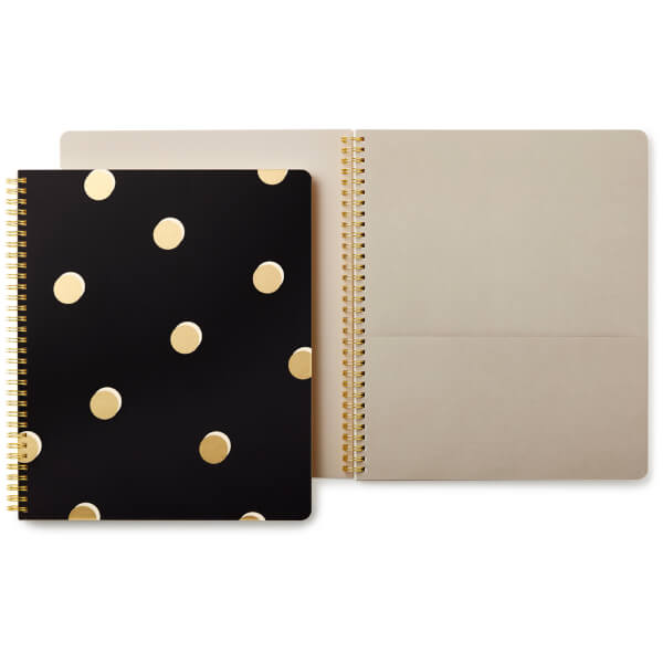 Kate Spade Large Spiral Notebook - Scatter Dot