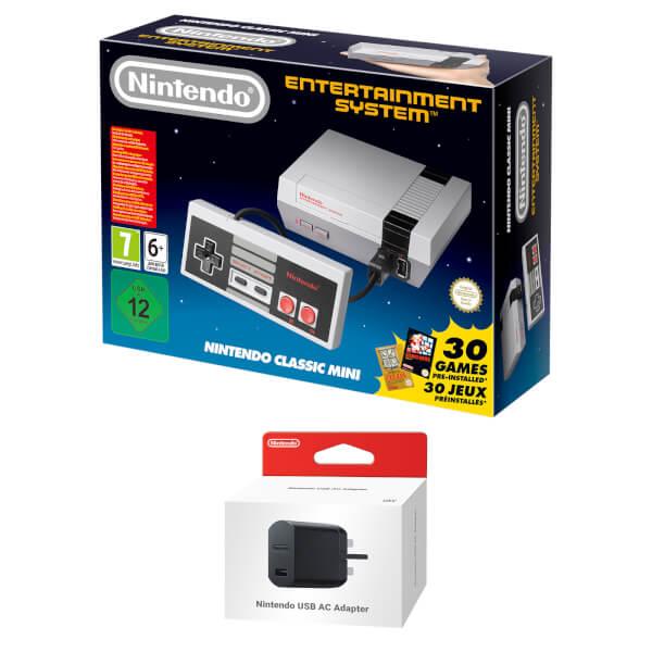Nintendo Classic Mini: Nintendo Entertainment System + Nintendo USB Power Adapter