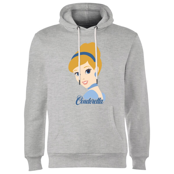Disney Princess Colour Silhouette Cinderella Hoodie - Grey