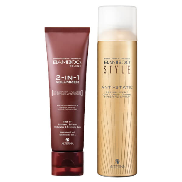 Alterna Bamboo Style Dry Finishing Spray and 2-in-1 Volumizer Duo (Worth £44.50)