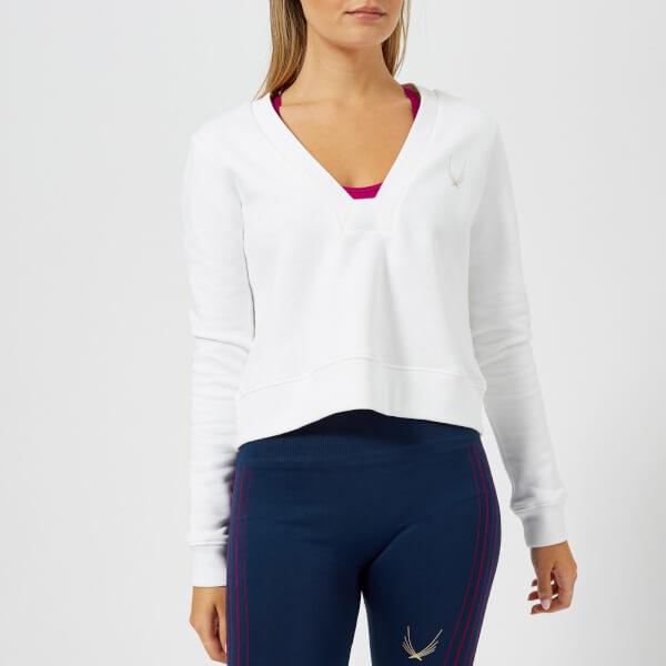 Lucas Hugh Women's Carbon Crop Sweatshirt - White