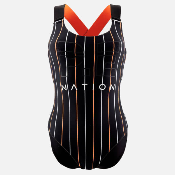 P.E Nation Women's The West Port Reversible Onepiece Swimsuit - Black