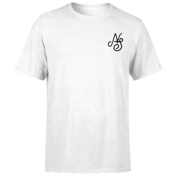 Native Shore Men's Essential Script T-Shirt - White: Image 1