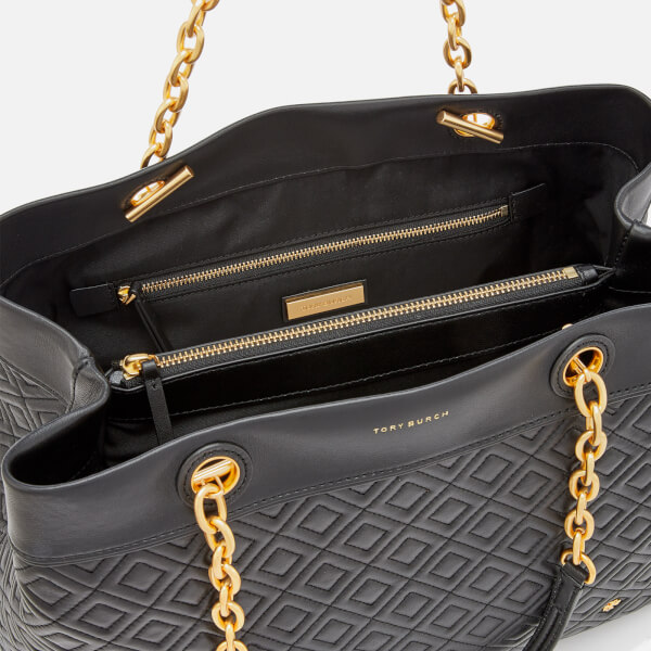 5800789608bd4 Tory Burch Women s Fleming Triple Compartment Tote Bag - Black  Image 5
