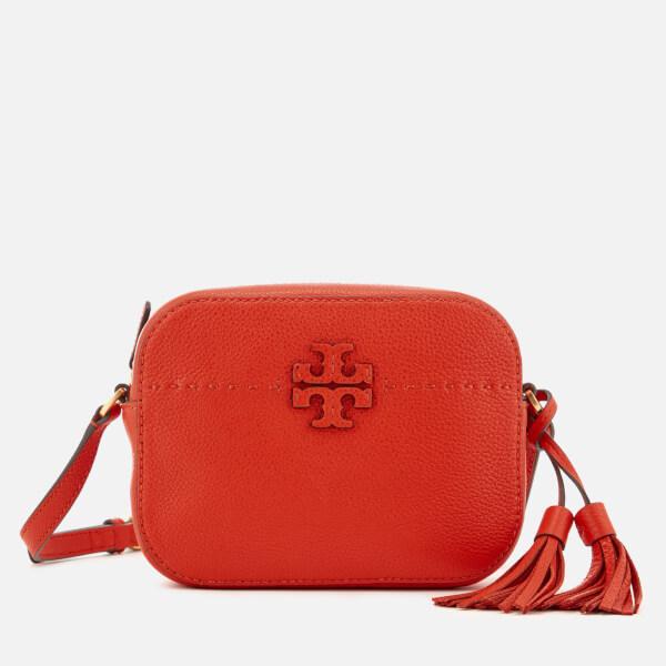 05977dd6ab0 Tory Burch Women s McGraw Camera Bag - Poppy Red  Image 1
