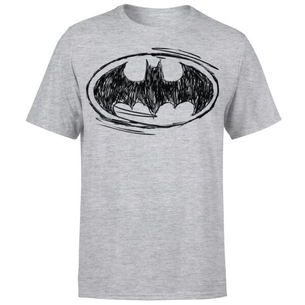 DC Comics Batman Sketch Logo T-Shirt - Grey