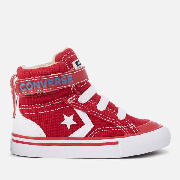 Converse Toddlers' Pro Blaze Strap Hi-Top Trainers - Gym Red/Vintage Khaki/White