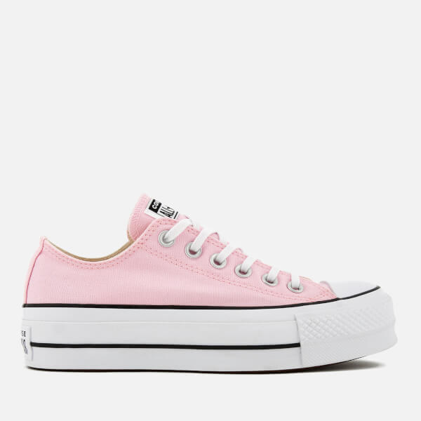 b25655396f43ec Converse Women s Chuck Taylor All Star Lift Ox Trainers - Cherry  Blossom White Black