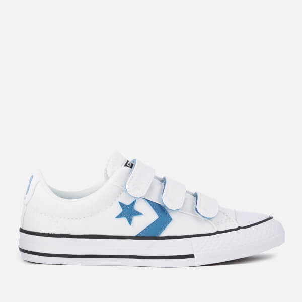 Converse Kids' Star Player 3V Ox Trainers - White/Aegean Storm/Black