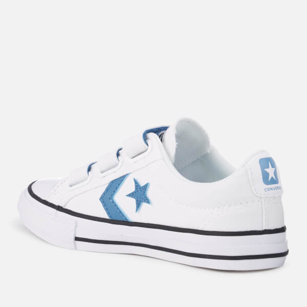 b6ed8aca4507 ... wholesale converse kids star player 3v ox trainers white aegean storm  black 41daf 1b7f4