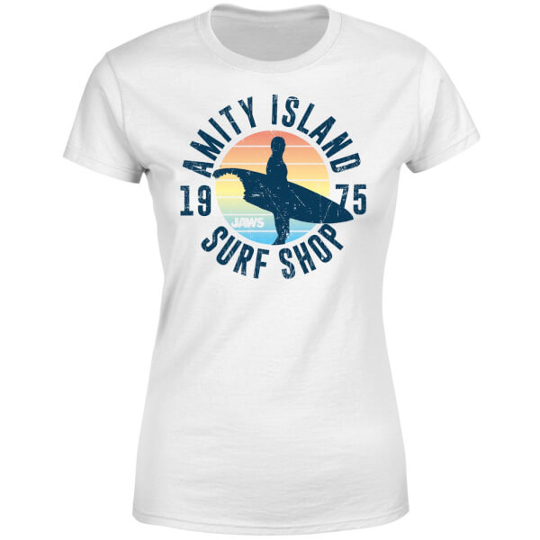 Jaws Amity Surf Shop Women's T-Shirt - White