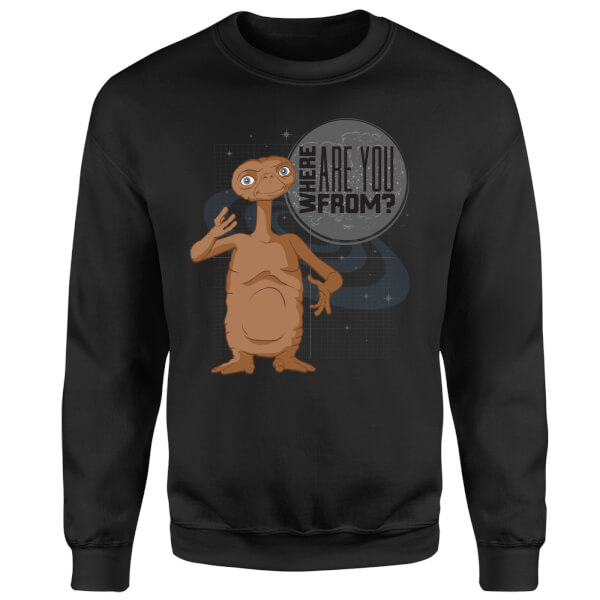 ET Where Are You From Sweatshirt - Black