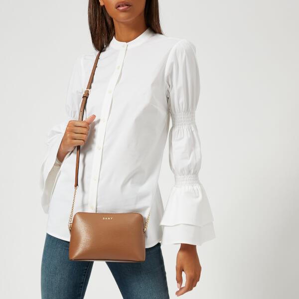 0f7b2e38b17 DKNY Women s Bryant Sutton Textured Leather Top Zip Cross Body Bag - Camel   Image 3