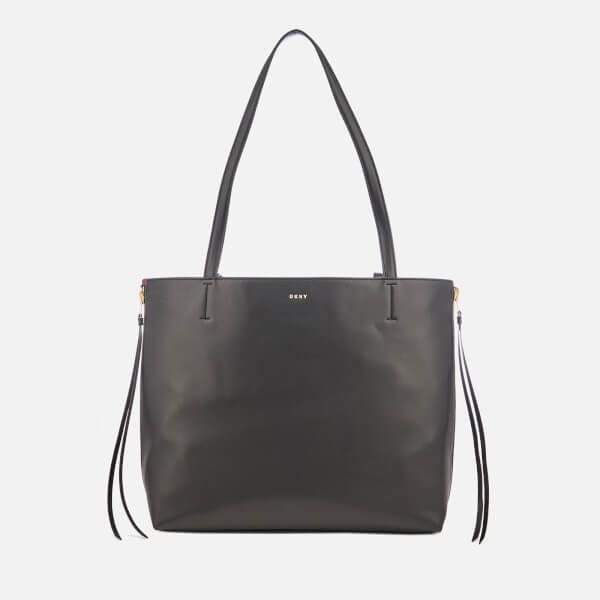 DKNY Women's East West Reversible Tote Bag - Black/Red