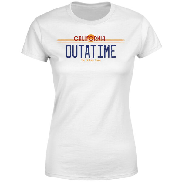 Back To The Future Outatime Plate Women's T-Shirt - White