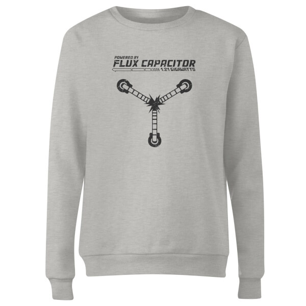 Back To The Future Powered By Flux Capacitor Women's Sweatshirt - Grey