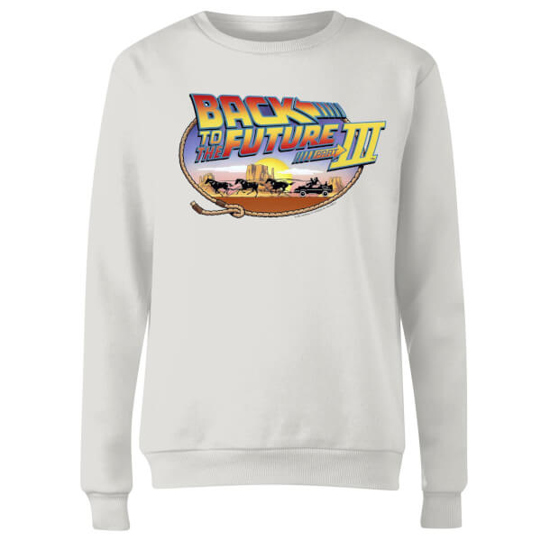 Back To The Future Lasso Women's Sweatshirt - White