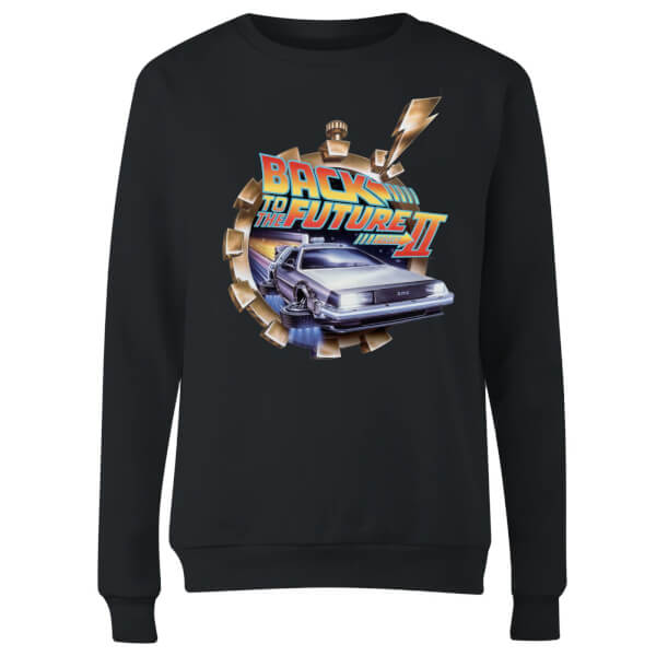 Back To The Future Clockwork Women's Sweatshirt - Black