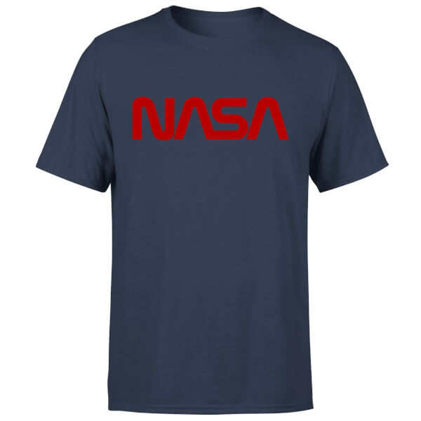 NASA Worm Red Logotype T-Shirt - Navy
