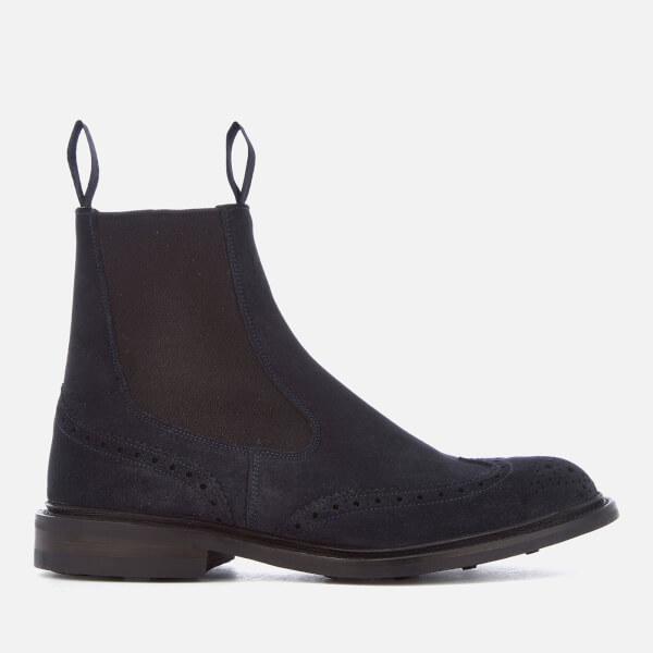 Tricker's Men's Henry Reverse Suede Chelsea Boots - Navy