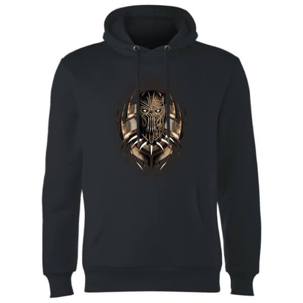 Black Panther Gold Eril Killmonger Hoodie - Black