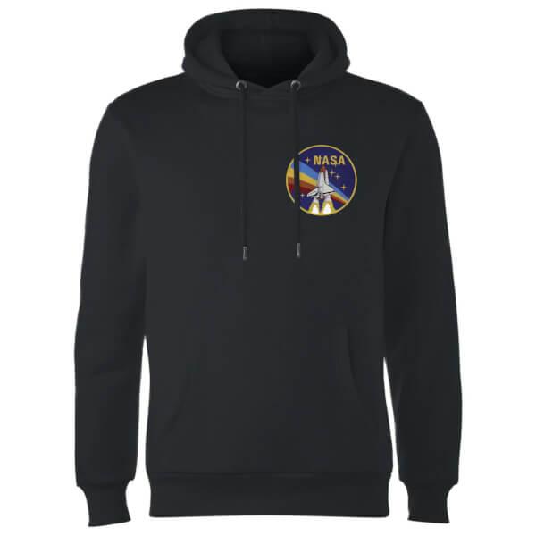 NASA Vintage Rainbow Shuttle Hoodie - Black