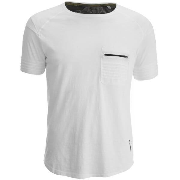 Ringspun Men's Gilera Zip Pocket T-Shirt - White