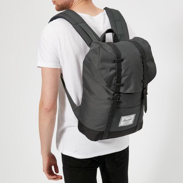 Herschel Supply Co. Men s Retreat Backpack - Dark Shadow Black  Image 3 3420e70cf241b