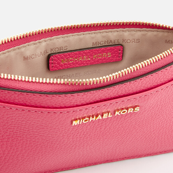 12f66f988775 MICHAEL MICHAEL KORS Women's Mercer Pebble Large Slim Card Case - Rose  Pink: Image 4