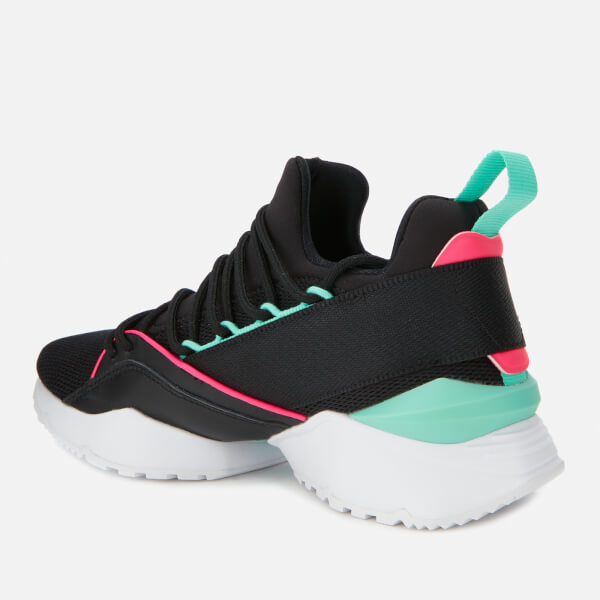 Puma Women s Muse Maia Chase Trainers - Puma Black Knockout Pink Biscay  Green  509fcb729