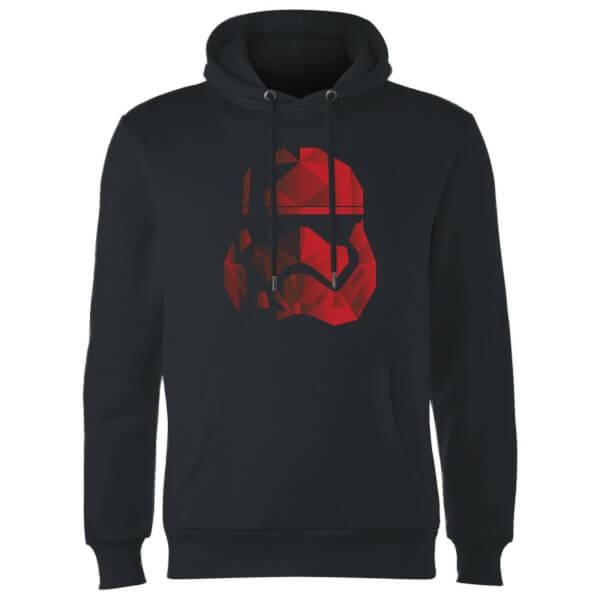 Star Wars Jedi Cubist Trooper Helmet Black Hoodie - Black