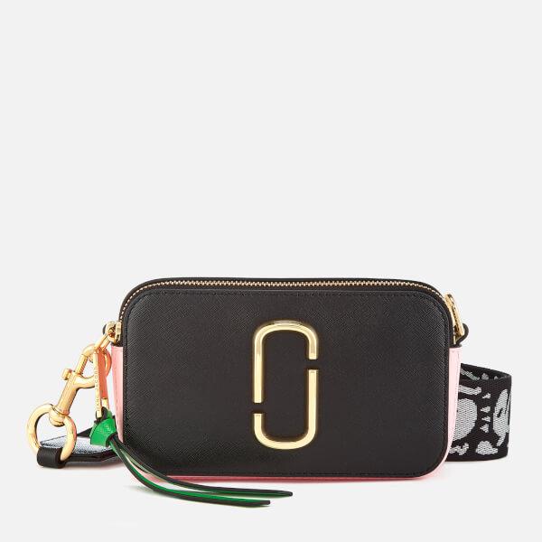 Marc Jacobs Women's Snapshot Cross Body Bag - Black/Baby Pink