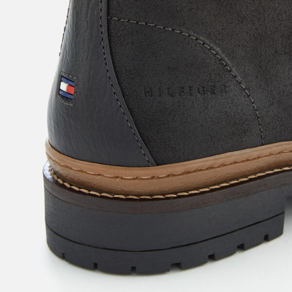 1bf17f2ec91936 Tommy Hilfiger Men s Elevated Outdoor Leather Hiking Boots - Black  Image 4