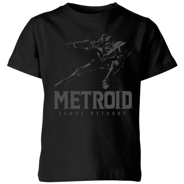 Nintendo Metroid Samus Returns Kids' T-Shirt - Black