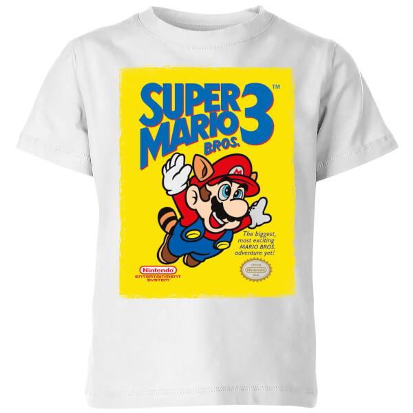 Nintendo Super Mario Bros 3 Kids' T-Shirt - White