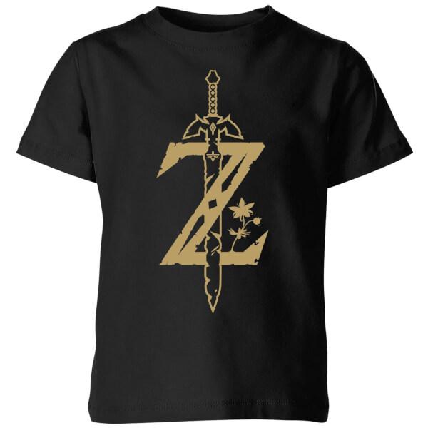 Nintendo The Legend Of Zelda Master Sword Kids' T-Shirt - Black