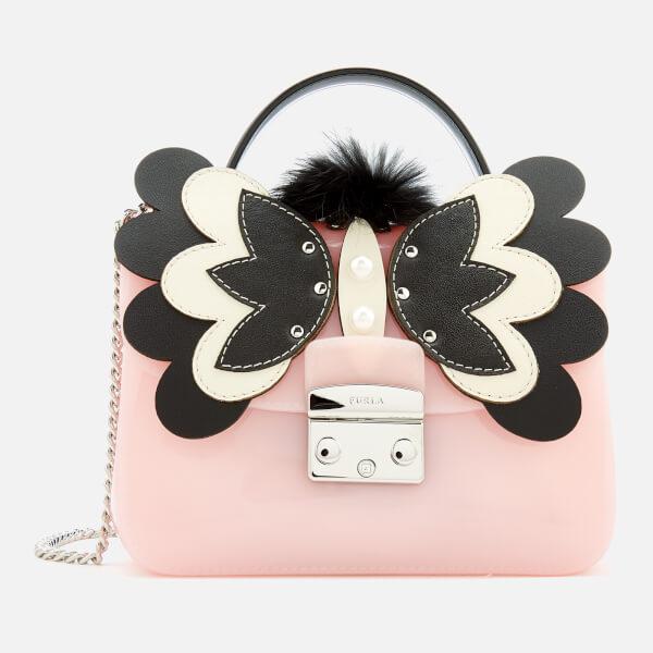 Furla Women's Candy Melita Meringa Mini Cross Body Bag - Light Pink/Black