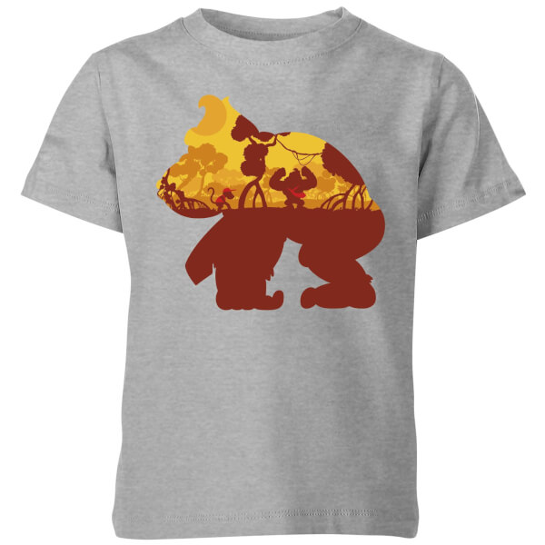 Nintendo Donkey Kong Silhouette Mangrove Kids' T-Shirt - Grey