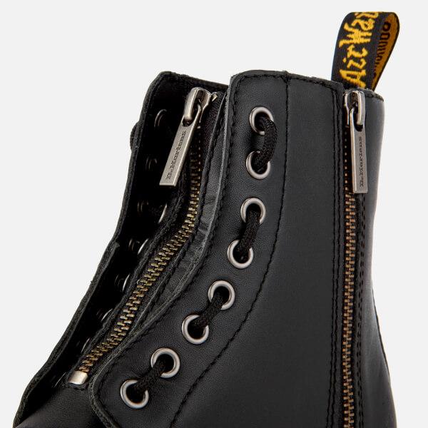 d5c108d81c77c Dr. Martens Women s 1460 Pascal Front Zip Arcadia Leather 8-Eye Boots -  Black