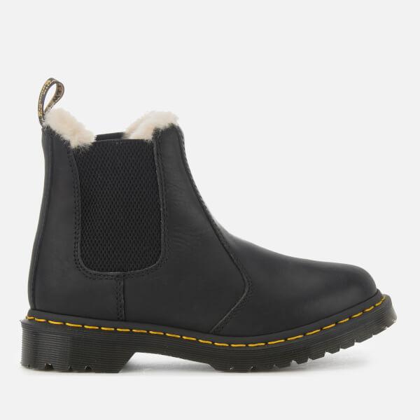 Dr. Martens Women s 2976 Leonore Faux Fur Lined Chelsea Boots - Black   Image 1 4ec1af0c2b8f