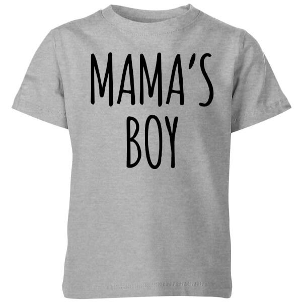 My Little Rascal Mama's Boy Kids' T-Shirt - Grey