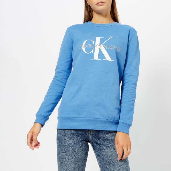 0378166248940c Calvin Klein Jeans Women s Monogram Logo Sweatshirt - Regatta Womens ...