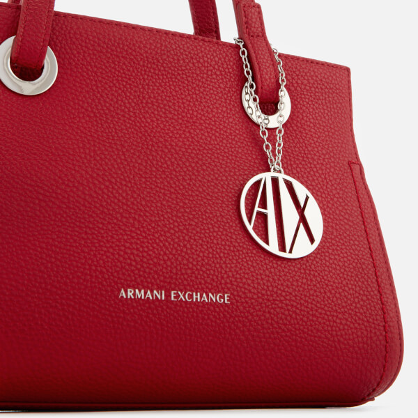 4fb180c9d8e7 Armani Exchange Women s Small Shopper With Cross Body Bag - Royal Red   Image 3