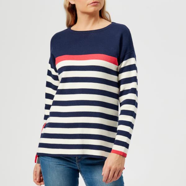 Joules Women's Uma Milano Jumper - Navy Red Cream Stripe
