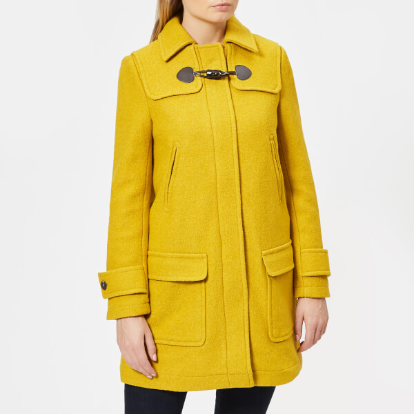 Joules Womens Woolsdale Duffle Coat Antique Gold Womens