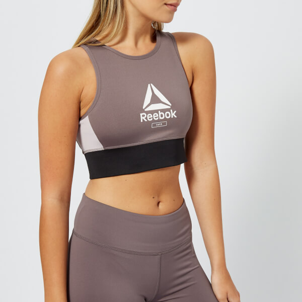 Reebok Women's Layering Bralette - Almost Grey