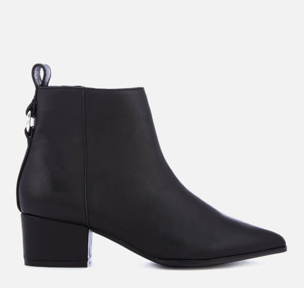 Steve Madden Women's Clover Leather Heeled Ankle Boots - Black
